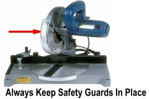 image Safety Guard on Power Miter Saw